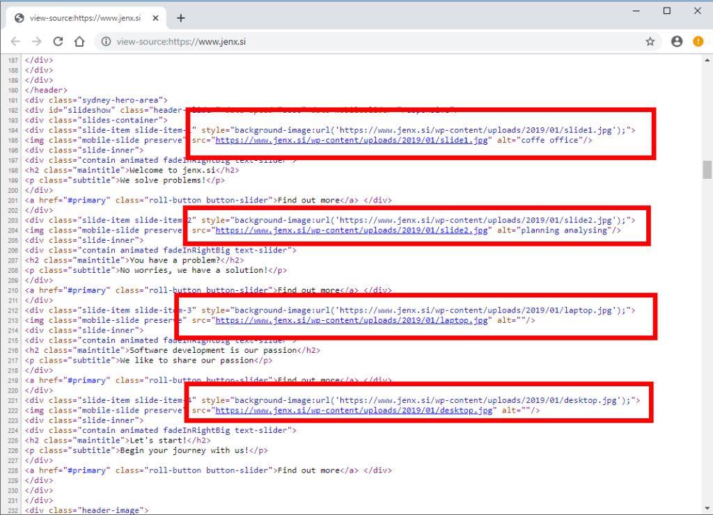 html source no cdn