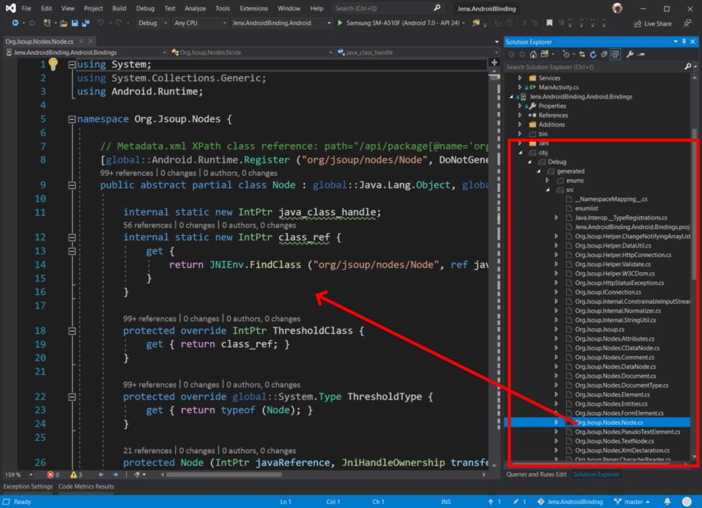 Code generated for Xamarin Bindings library