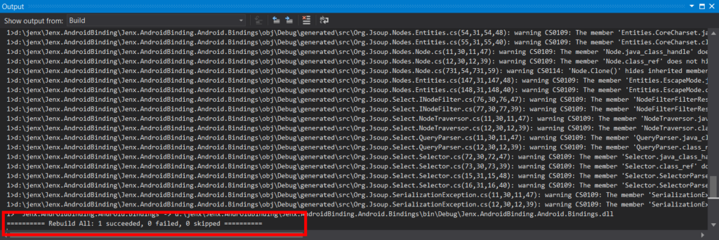 Build fixed after applying Metadata.xml transformation.