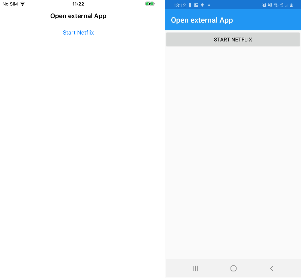 my demo xamarin forms app for opening external apps